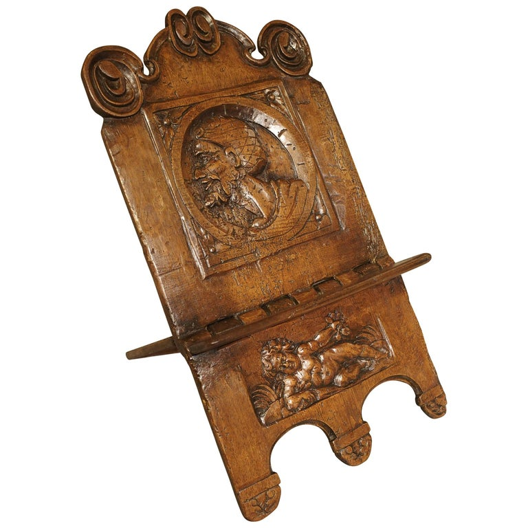 Antique Walnut Wood Book Holder 17th Century At 1stdibs
