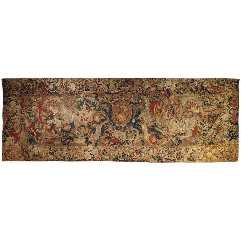 Antique French Beauvais Tapestry from the Late 17th Century For Sale