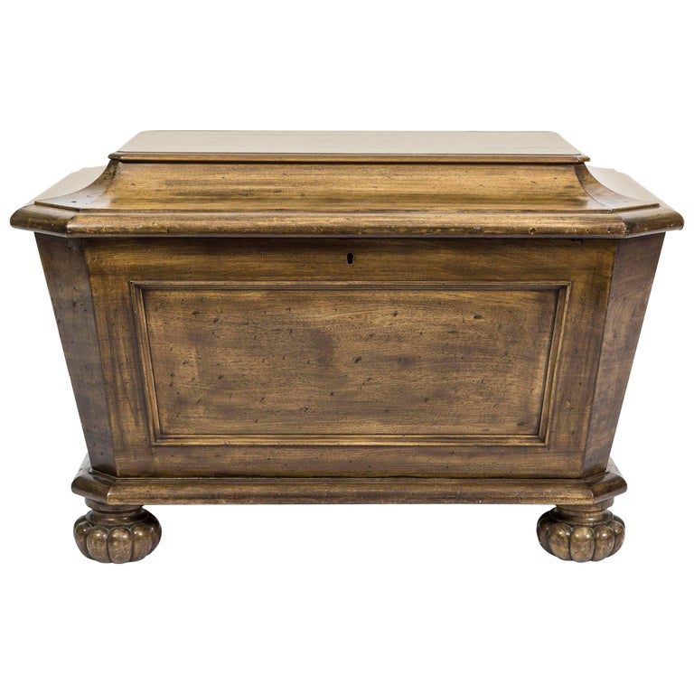 19th Century Mahogany Sarcophagus Shaped Wine Cellarette For Sale