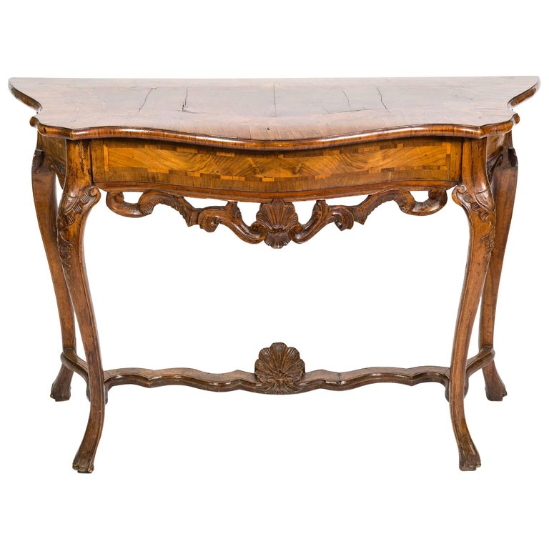 18th Century Italian Walnut Console Table