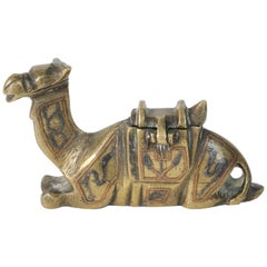 Decorative Brass Camel Inkwell
