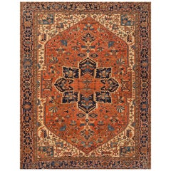 Late 19th Century Persian Serapi Carpet