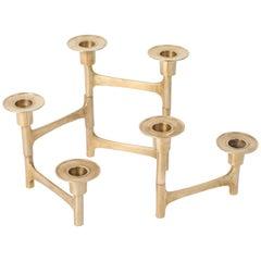 Danish Mid-Century Modern Brass Articulating Candleholder Nagel Style