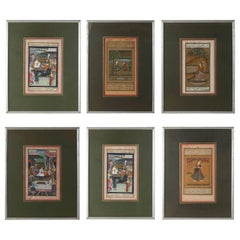 Set of Six Indian Miniature Framed Paintings