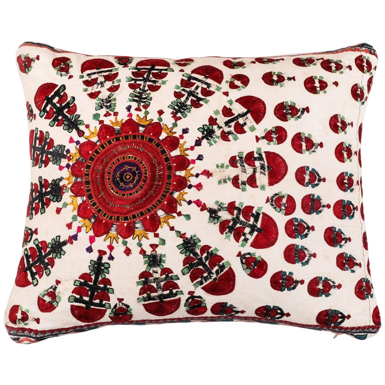 Vintage Sindh Embroidery Pillow For Sale