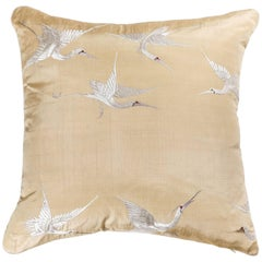 Japanese Silk Embroidered Pillow