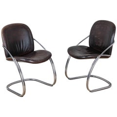 Midcentury Tubular Chrome Chair