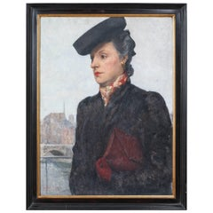 Portrait of a Parisian Woman in a Black Hat by C.P. Bernardo