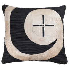 Vintage African Embroidery Pillow