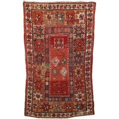 Antique Melas Turkish Village Rug