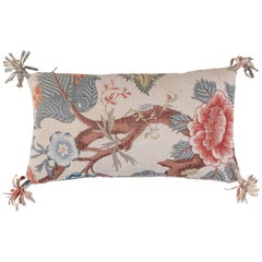 Vintage Floral Linen Pillow Double-sided