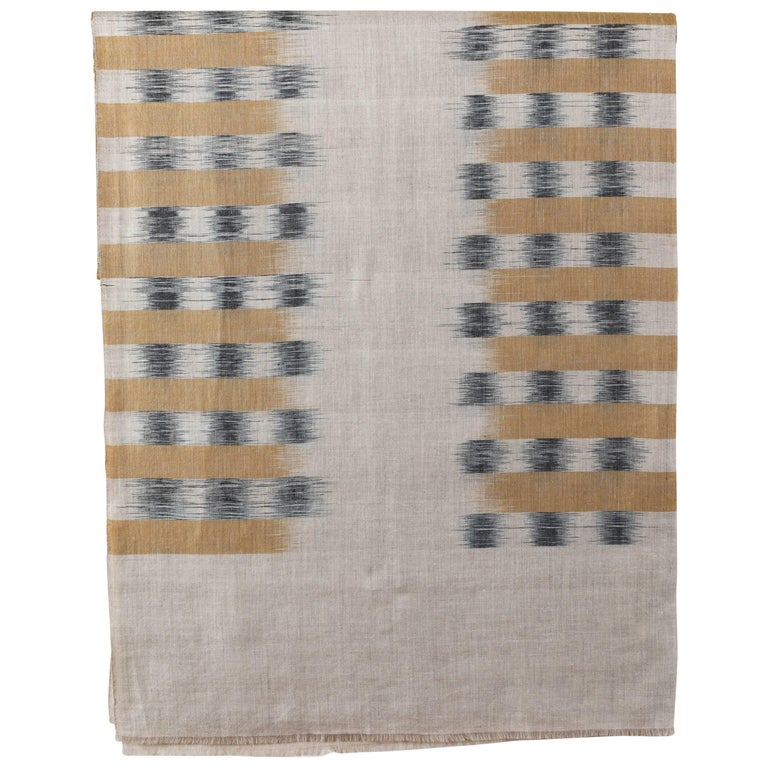 Ikat Woven Cashmere Throw