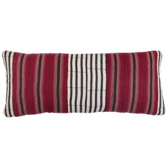 African Ashante Striped Pillow, Double-Sided