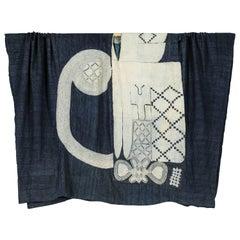 Vintage West African Tunic Indigo Cotton