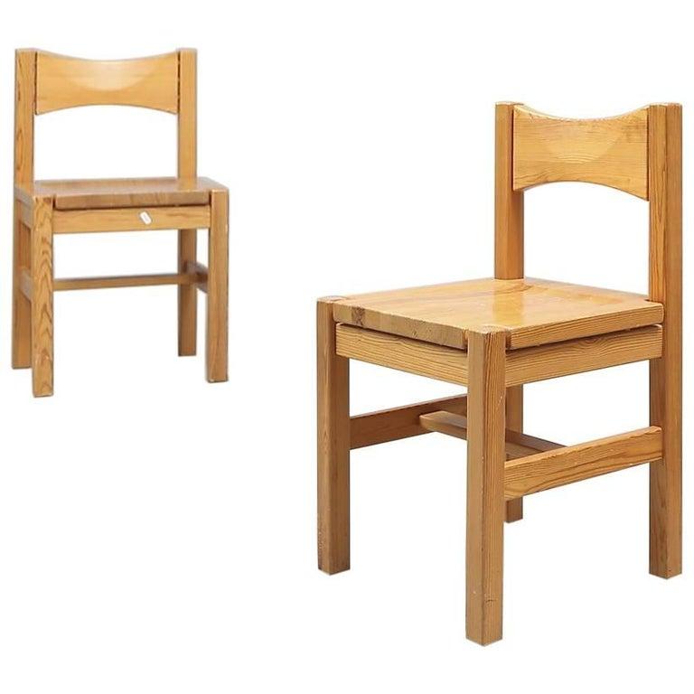 Ilmari Tapiovaara Pine Chairs, Finland, 1963