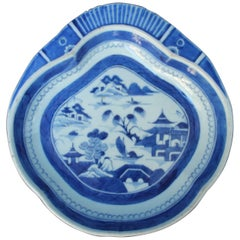 Chinese Blue and White Canton Dish