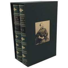 Personal Memiors of P. H. Sheridan, 2-Volumes, First Edition Set, circa 1888