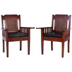 Pair of Antique British Colonial Armchairs
