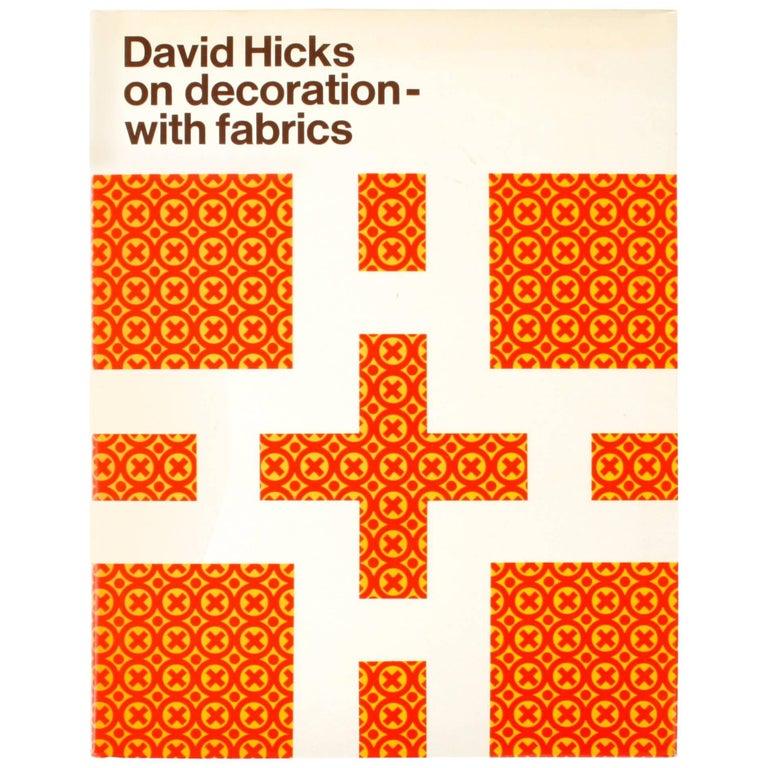 """David Hicks on Decoration with Fabrics"" First Edition Book"
