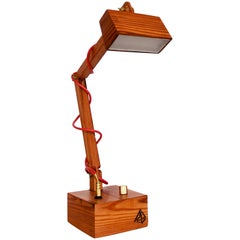 Lumi.Lu Reclaimed Wood Table Lamp by O Formigueiro