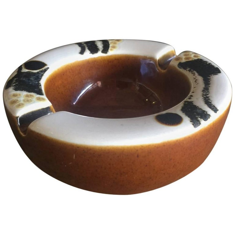 Midcentury Ceramic Ashtray by Ellen Malmer for Royal Copenhagen For Sale