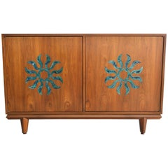 Walnut and Enameled Two-Door Dresser by Cal Mode, circa 1970