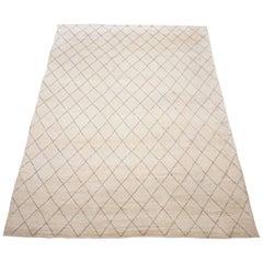 Cream Moroccan Design Area Rug