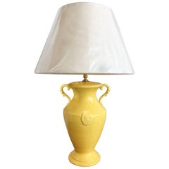 Chelsea House Yellow Urn Lamp with Shade