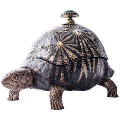 Anthony Redmile Shell and Bronze Turtle Boîte Couverte, circa 1980