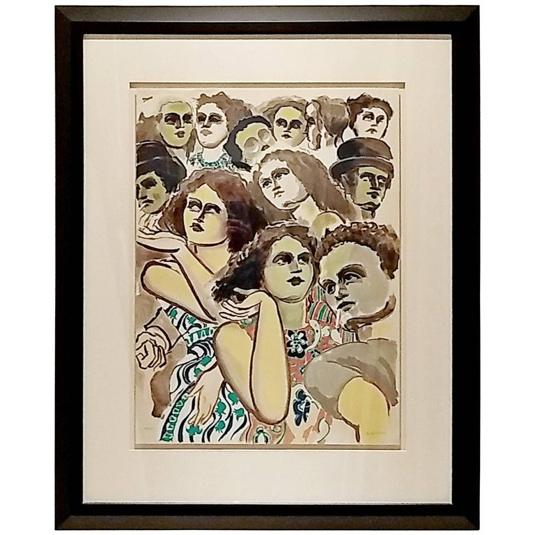 Mid-Century Modern Lester Johnson Lithograph Signed Numbered 126/175