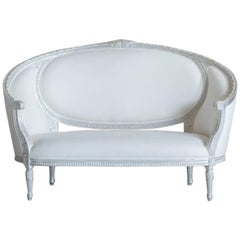 Eloquence Versailles Canape Sofa in Silver Lea