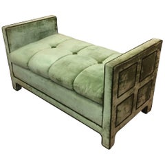 Super Stylish Vintage Velvet Settee
