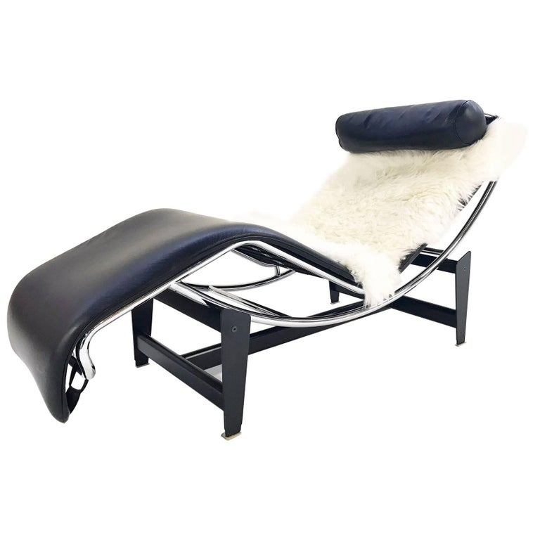Pierre Jeanneret Charlotte Perriand Le Corbusier For Cassina LC4 Chaise Lounge Sale