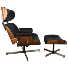 Plycraft Lounge Chair and Ottoman by George Mulhauser