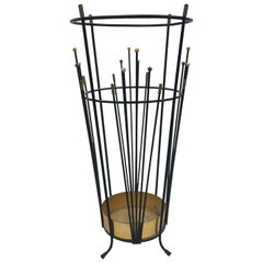 Mid-Century Modern Umbrella Stand, Made in Italy in 1950