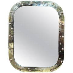 Brass Porthole Rectangular Mirror