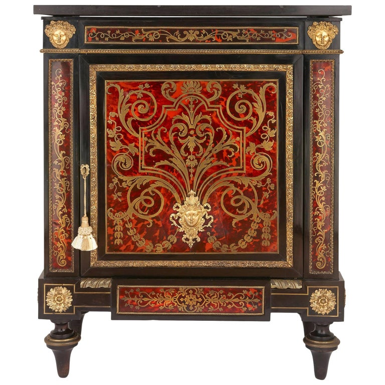 Antique Boulle Marquetry Cabinet with Ormolu, Tortoiseshell and Brass