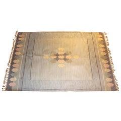 Ingegerd Silow Midcentury Flat-Weave Carpet