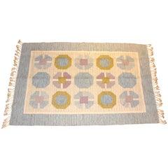 Birgitta Södergren Midcentury Flat-Weave with Geometrical Patterns