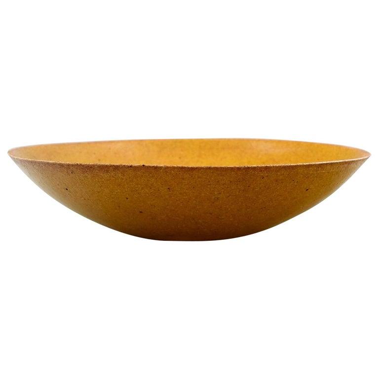 Alev Siesbye Ceramic Bowl, Decorated with Yellow Glaze