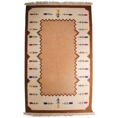 Midcentury Vintage Swedish Flat-Weave Carpet