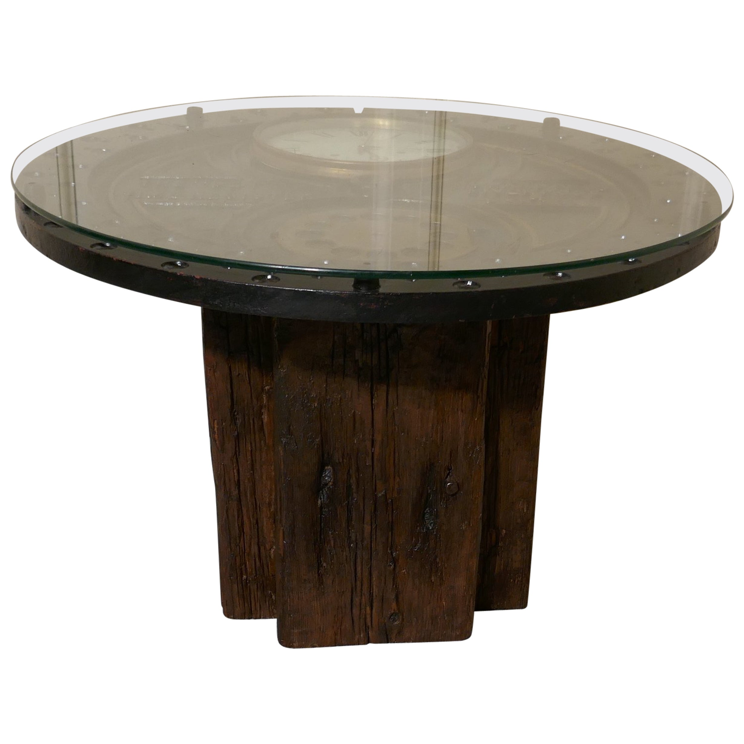 Stylish Designer Coffee Table, Industrial Antiques, Steam Punk
