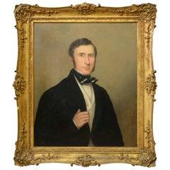 19th Century Portrait of a Gentleman in Gilt Frame