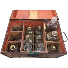 Antique Captain's Treasure Liquor Chest