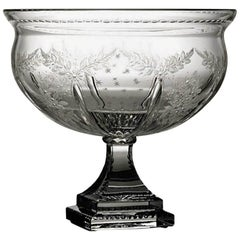 Hand Engraved Crystal Bowl, Italy, circa 1990