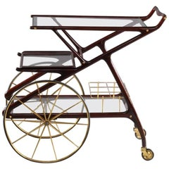 Charming Bar Trolley Designed Cesare Laccai, Italy, 1950