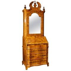 Venetian Inlaid Trumeau Desk in Walnut Wood, 20th Century