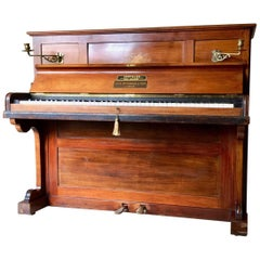 Upright Piano by John Broadwood & Sons Rosewood Inlaid Antique Victorian Superb