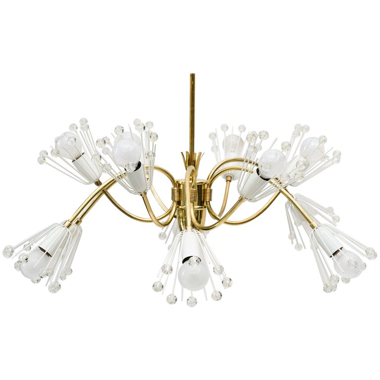 Beautiful Chandelier by Emil Stejnar for Rupert Nikoll For Sale