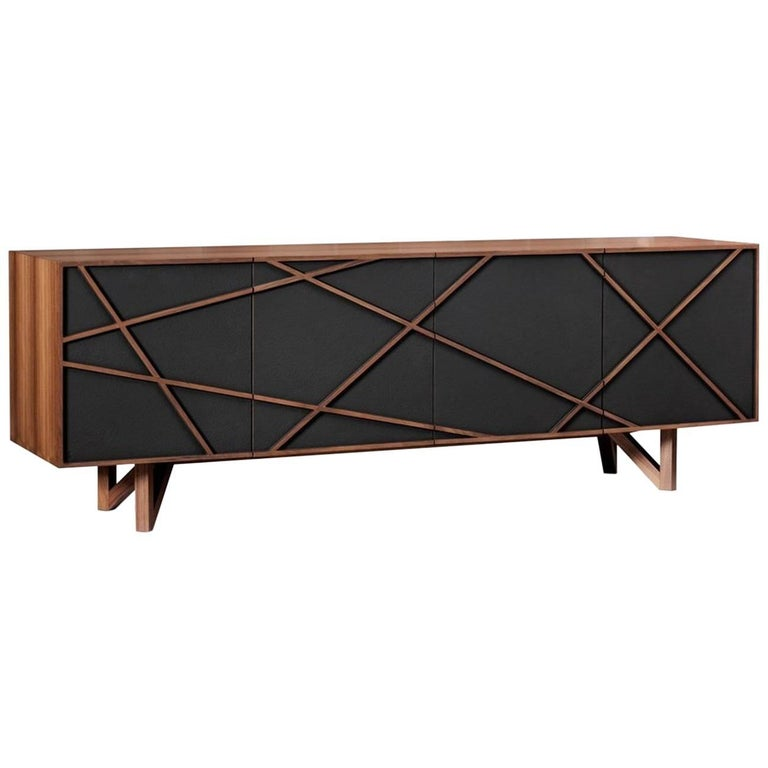 Brave Sideboard by Macronato & Zappa Arch, Lacquered Wooden Sideboard with Doors